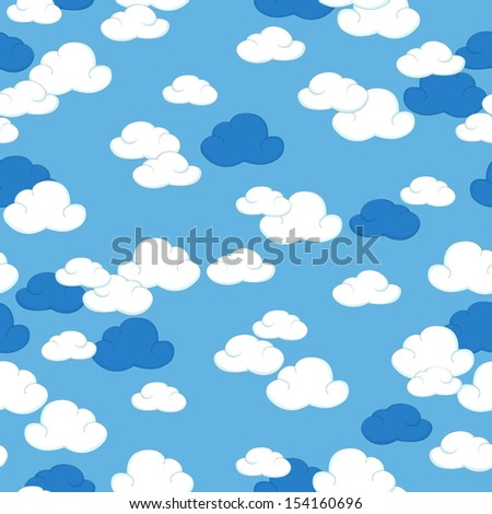 The cartoon image of a clouds - sky - illustration for the children