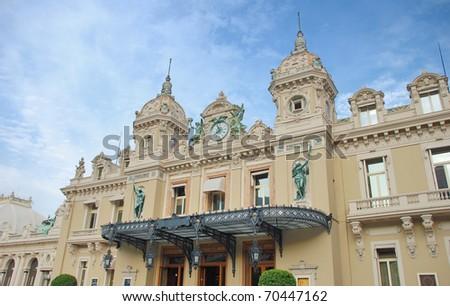 The Casino Monte-Carlo, Monaco. - stock photo