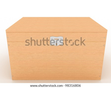 The casket of a tree on a white background ?4 - stock photo