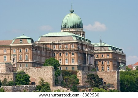 The Castle of Buda in Hungary, old royal castle - stock photo