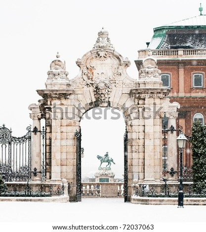 The castle of Budapest - stock photo
