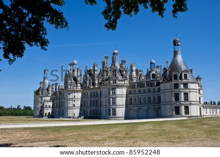 The Castle of Chambord in the Loire Valley - stock photo