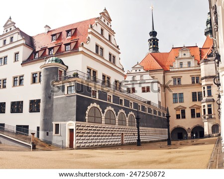 the castle of Dresden - Germany - stock photo