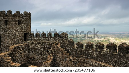 The Castle of the Moors (Castelo dos Mouros), Sintra, Portugal - stock photo