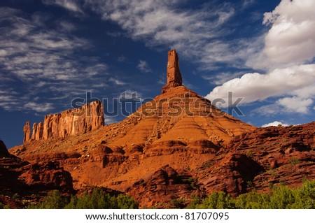 The Castleton Tower. Castle creek, Utah - stock photo