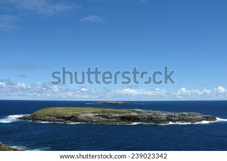 The Casuarina islands opposite cape du couedic on Kangaroo island in Australia  - stock photo