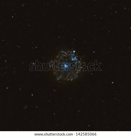 The Cat's Eye, a Planetary Nebula in Draco - stock photo