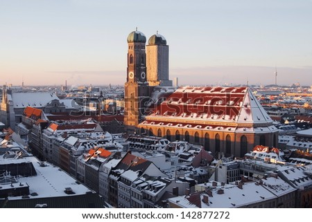 the cathedral in munich - stock photo