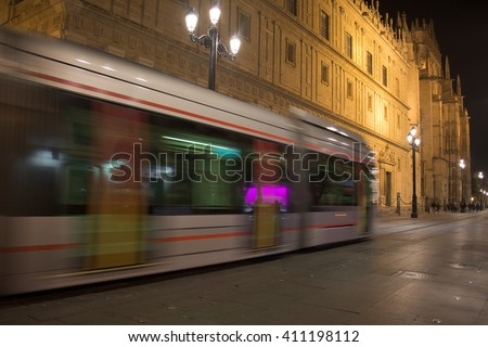 The cathedral in the metro passage - stock photo
