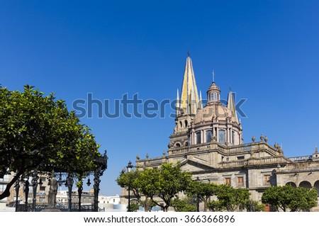 The cathedral of Guadalajara, Mexico - stock photo