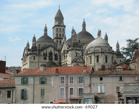 The cathedral of Perigueux, France. - stock photo