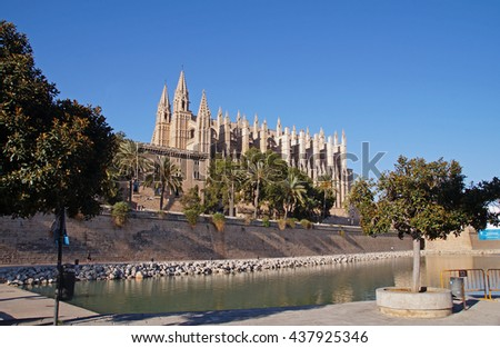 The Cathedral of Santa Maria of Palma, commonly referred to as La Seu, is a Gothic Roman Catholic cathedral located in Palma, Majorca