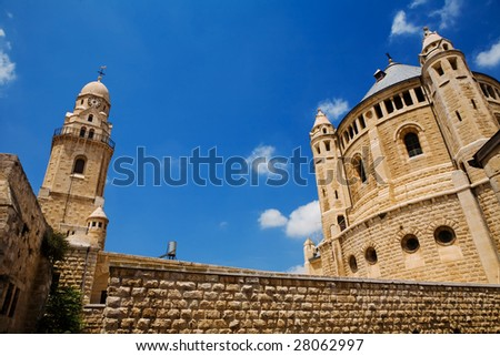 The Cathedral on the Golgotha mount in Jerusalem - stock photo
