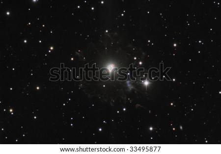 The Cats Eye Nebula - stock photo