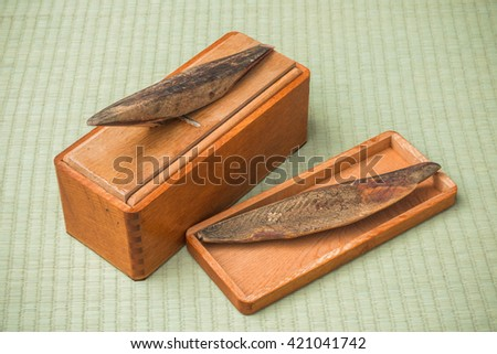 The cause of the dried bonito soup stock - stock photo