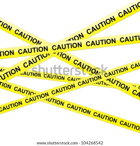 The Caution Tape Isolated on