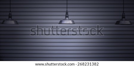 the ceiling lamp with copy space - stock photo