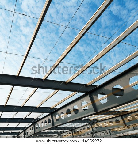 The ceiling of the airport, modern building interior. - stock photo