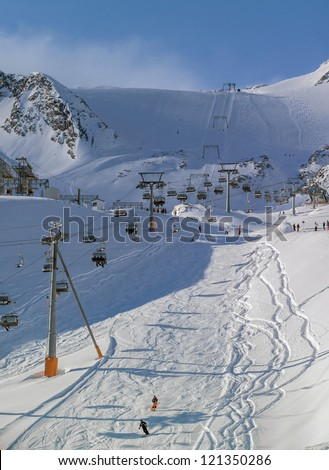 The chair lift and rope tow systems of Kaprun region, Austria