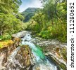 The Chasm (Fiordland, South Island, New Zealand) - stock photo