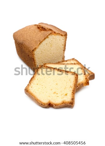 The cheesecake with slices isolated on white background. Studio high resolution image.