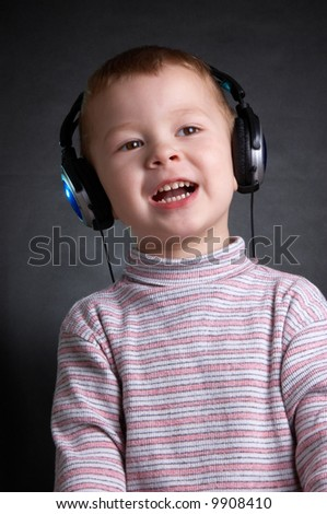 The child with ear-phones