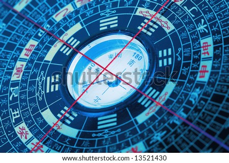 the chinese  Eight Diagrams - stock photo