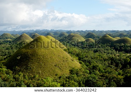 The Chocolate Hills, Bohol, Philippines - stock photo