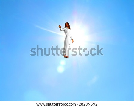 The Christ on a background of the sky