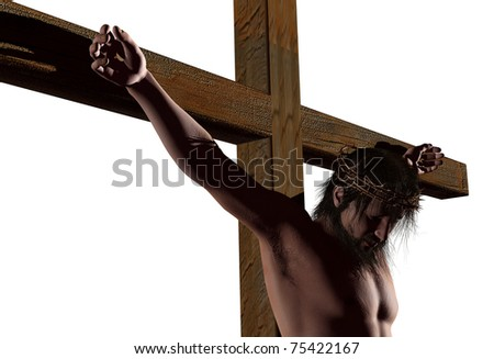 The Christ on a white background - stock photo