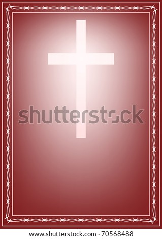 The Christian cross shone from within. It is surrounded by a blackthorn. - stock photo