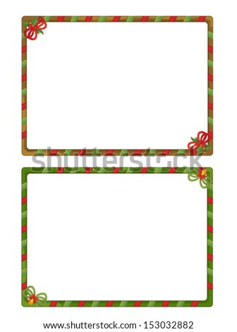 The christmas frame - border - cartoon illustration - stock photo