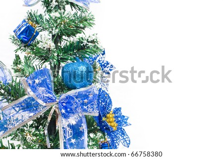 The christmas ornament with the christmas tree - stock photo