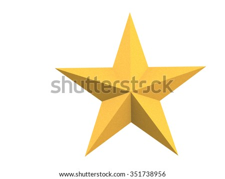 The Christmas star isolated on white background with clipping path