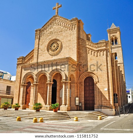 The church of King Christ in Santa Maria di Leuca's town, in Salento. Apulia. Italy.