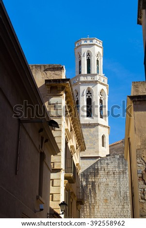 The church of Sant Pere in Figueres - stock photo