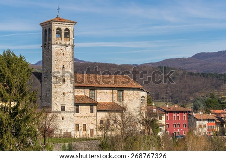 The church Oratorio di Santa Maria in Valle, also known as Lombard Temple,  in the city of Cividale del Friuli in Northern Italy - stock photo