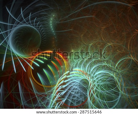 The Circle of Life abstract illustration (your text on upper right side of the image) - stock photo
