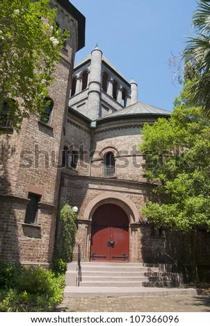 The Circular Church in Old Town Charleston, South Carolina - stock photo