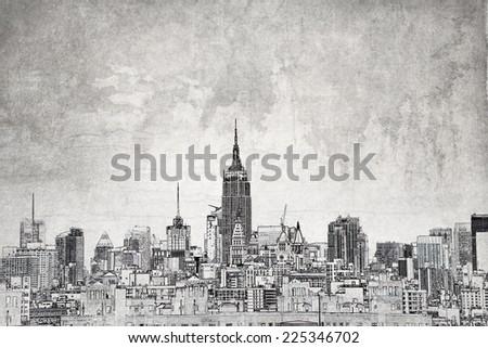 The city  - stock photo