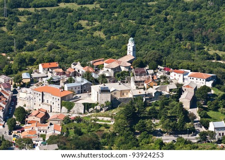 The city Bribir - coast of Croatia - near Crikvenica - stock photo