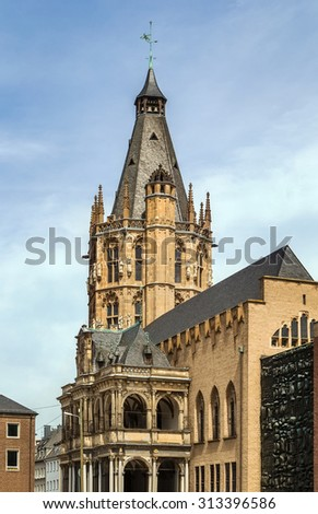 The City Hall is a historical building in Cologne, Germany - stock photo