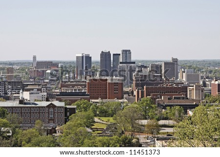 The city of Birmingham, Alabama. - stock photo