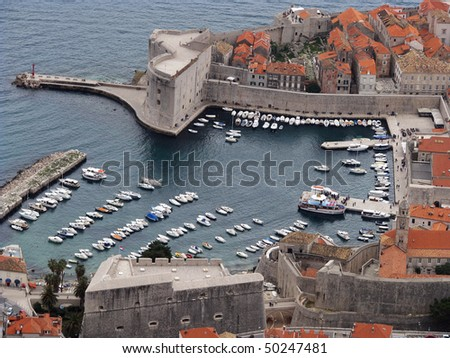The city of Dubrovnik from above - stock photo