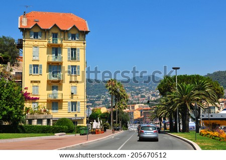 The city of Nice on French Riviera