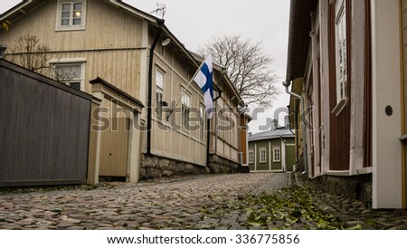 The City Of Rauma, Finland. Skyline.   - stock photo