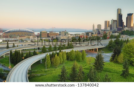 The city of Seattle - stock photo