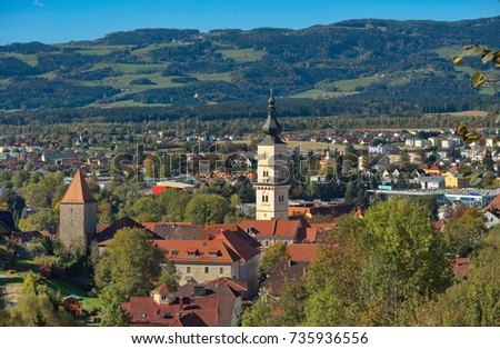 The city of Wolfsberg in Lower Carinthia / Austria