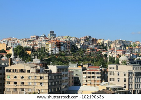 The city on a hill. Istanbul, Turkey