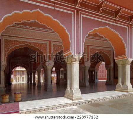 the city palace in Jaipur, located in Rajasthan, India